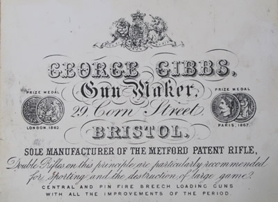 Gibbs 1870 s label